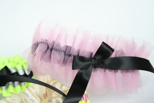 neon-pink-and-black-wedding-garters-The-Garter-Girl