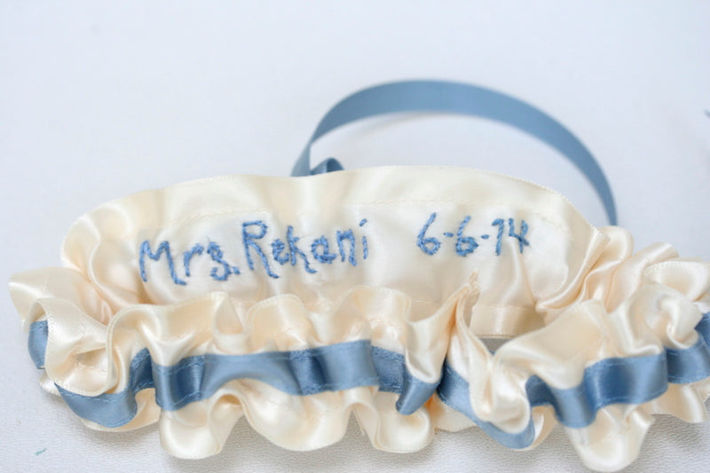 personalized-something-blue-wedding-garter-The-Garter-Girl
