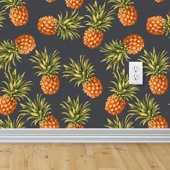 pineapple-removable-wallpaper