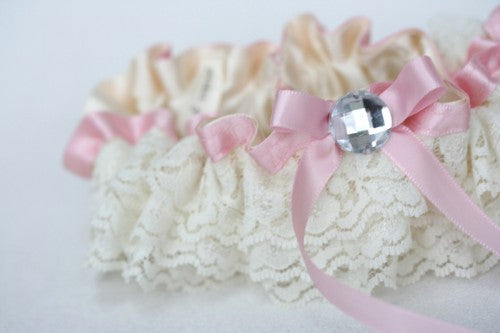 pink-ivory-lace-wedding-garter-set-The-Garter-Girl