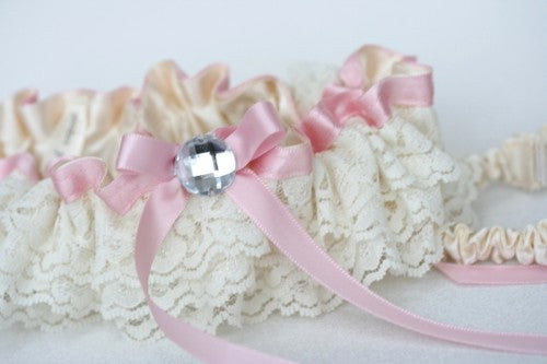 pink-ivory-lace-wedding-garter-set-The-Garter-Girl1