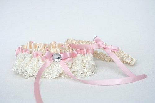 pink-ivory-lace-wedding-garter-set-The-Garter-Girl2