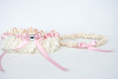 pink-ivory-lace-wedding-garter-set-The-Garter-Girl3