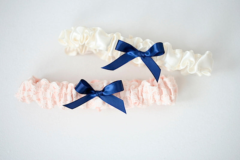 pink-navy-blue-wedding-garter-the-garter-girl