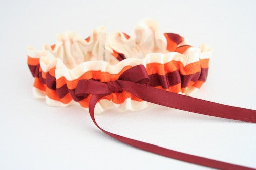 pretty-college-colors-wedding-garter-The-Garter-Girl