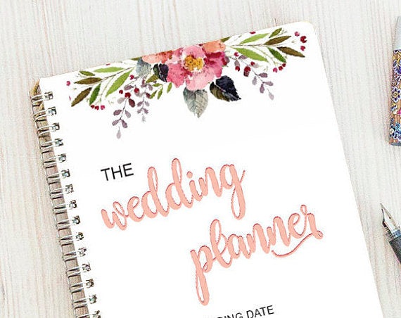 floral wedding planning binder