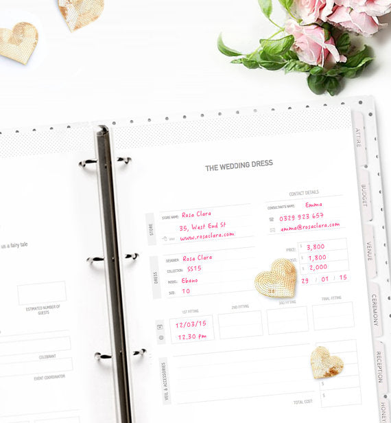 printable wedding organizer