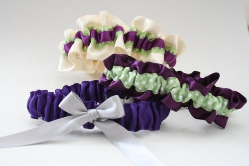 Purple and Green Wedding Garter Inspiration