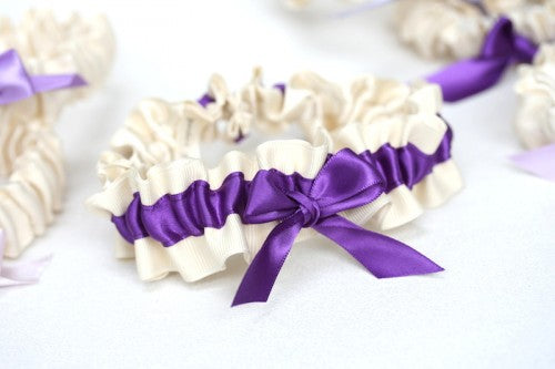 purple-bridesmaid-gift-wedding-garter-set-ombre-The-Garter-Girl