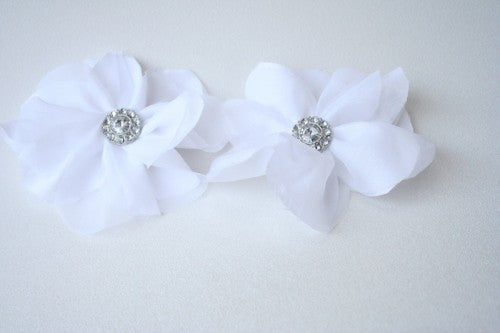 Purse Clip and Hair Pin Made To Match Wedding Garter