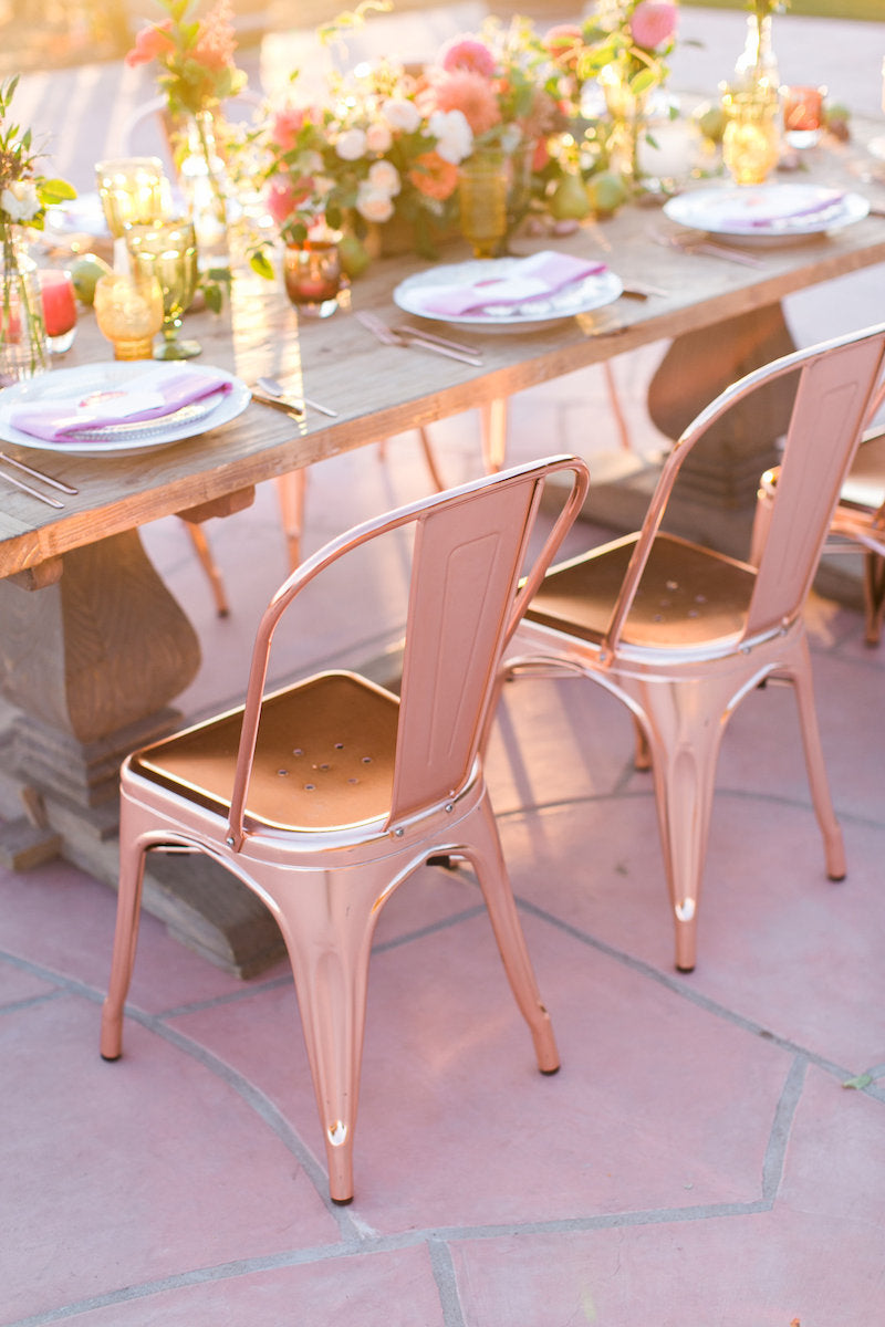 rose-gold-chairs-boho-wedding-ideas