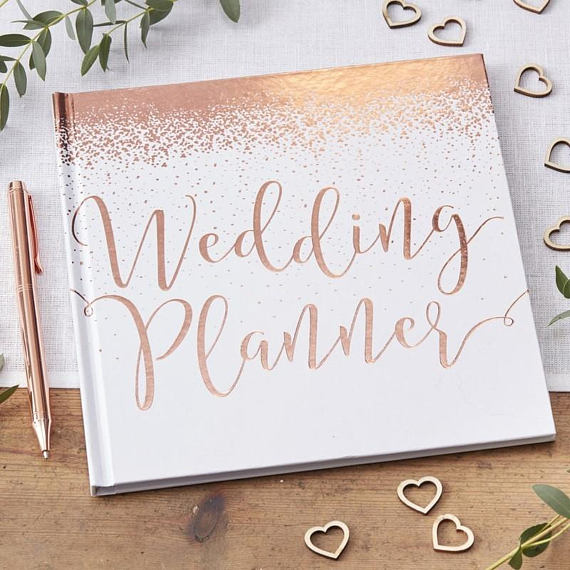 rose gold wedding planning book
