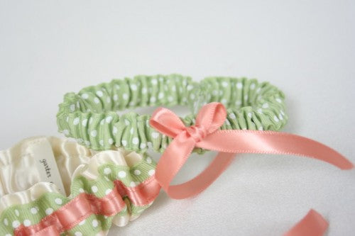 sage-coral-polka-dot-bridal-garter--The-Garter-Girl-by-Julianne-Smith