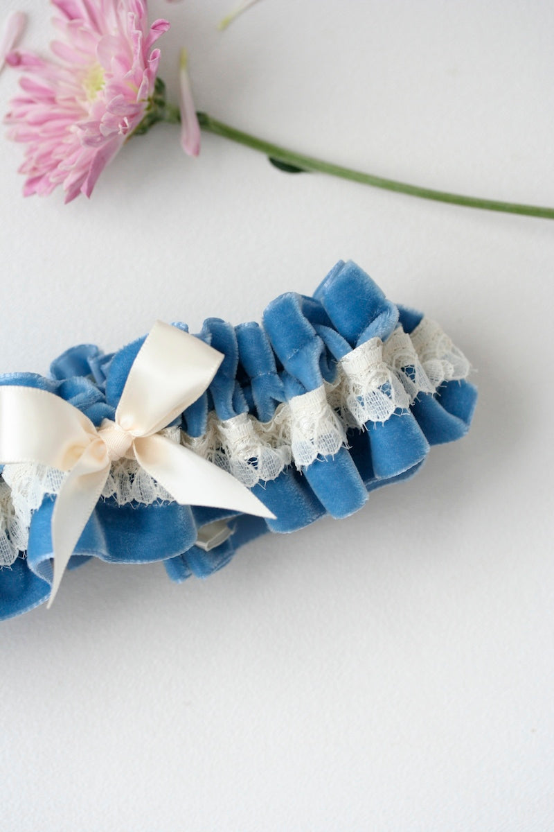 something-blue-velvet-wedding-garter-The-Garter-Girl