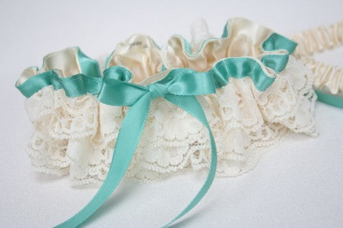 turquoise-wedding-garter-set-ivory-lace-The-Garter-Girl-2