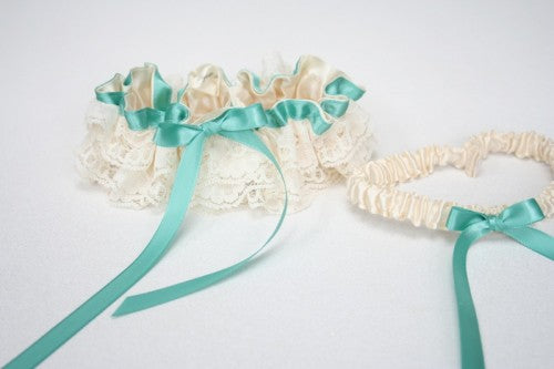 turquoise-wedding-garter-set-ivory-lace-The-Garter-Girl-4