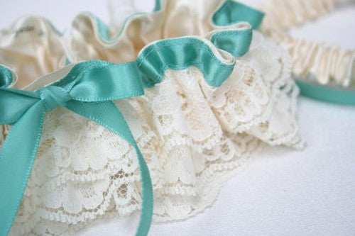 turquoise-wedding-garter-set-ivory-lace-The-Garter-Girl