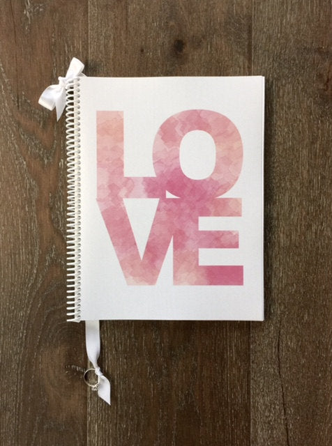 watercolor love wedding planning binder