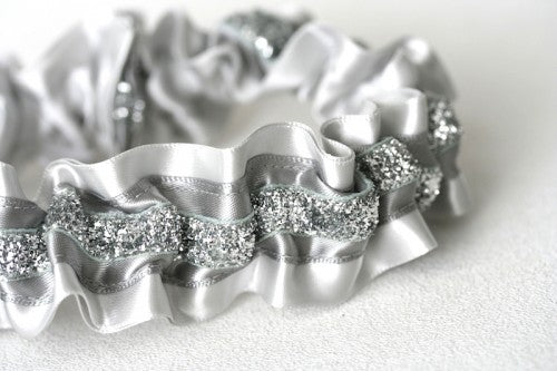 wedding-garter-gray-silver-sparkle-The-Garter-Girl-1