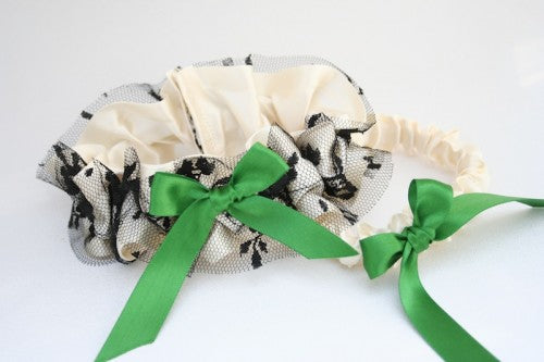wedding-garter-ivory-green-black-The-Garter-Girl-1