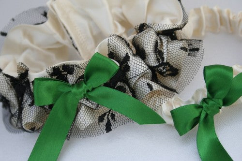 wedding-garter-ivory-green-black-The-Garter-Girl-3