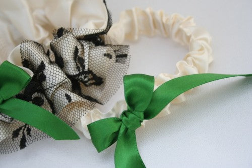 wedding-garter-ivory-green-black-The-Garter-Girl-4