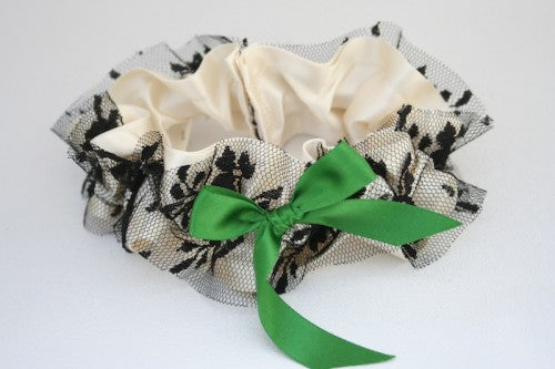 wedding-garter-ivory-green-black-The-Garter-Girl