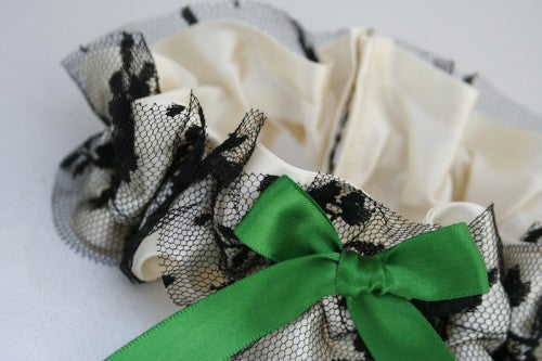 wedding-garter-ivory-green-black-The-Garter-Girl-6