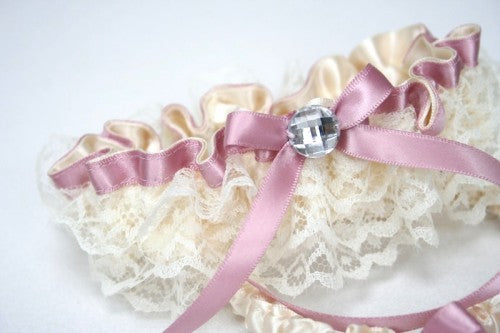 wedding-garter-ivory-lace-pink-sparkle-The-Garter-Girl-5