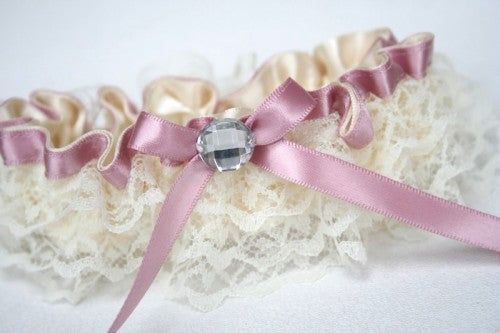 wedding-garter-ivory-lace-pink-sparkle-The-Garter-Girl