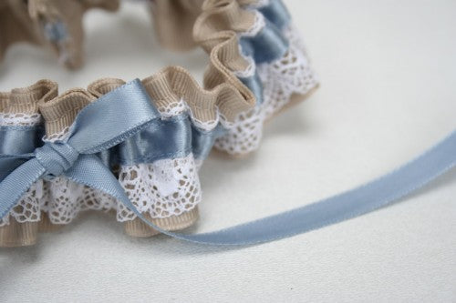 wedding-garter-lace-tan-blue-The-Garter-Girl-2
