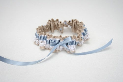 wedding-garter-lace-tan-blue-The-Garter-Girl