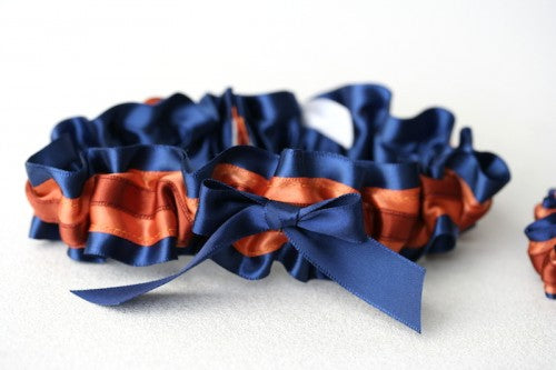 wedding-garter-navy-burnt-orange-The-Garter-Girl-1
