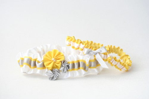 wedding-garter-white-gray-yellow-gray-The-Garter-Girl-1