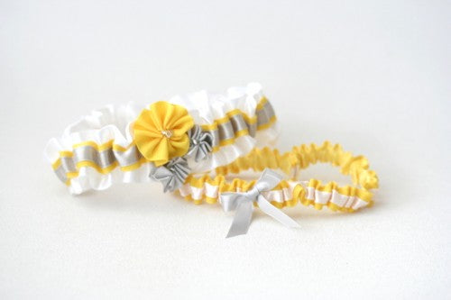 wedding-garter-white-gray-yellow-gray-The-Garter-Girl-5