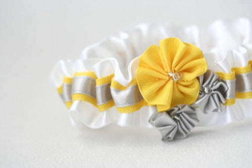 wedding-garter-white-gray-yellow-gray-The-Garter-Girl