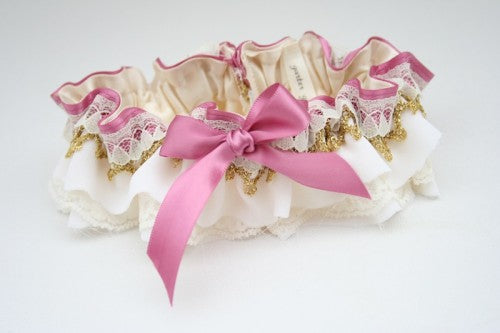 wedding-pink-gold-metallic-garter-The-Garter-Girl