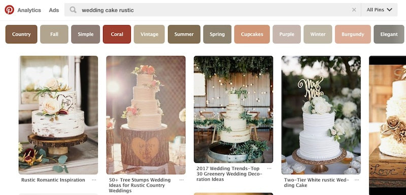 example of rustic wedding cake search on pinterest