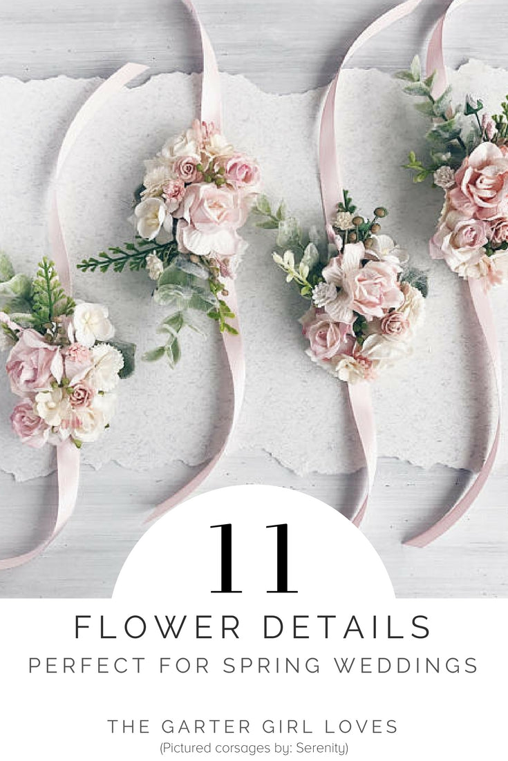 where to find flower accessories for spring weddings