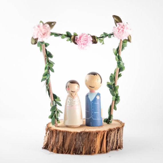 wooden-floral-cake-topper-custom