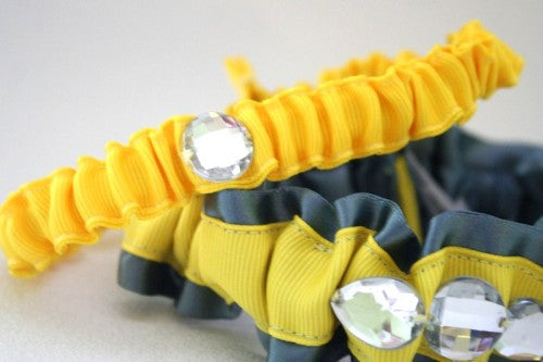 yellow-and-gray-wedding-garter-set-with-bling