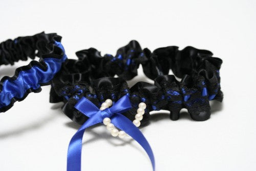 black-lace-royal-blue-bridal-garter-The-Garter-Girl