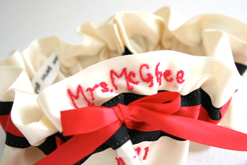 black-red-embroidered-custom-wedding-garter-The-Garter-Girl