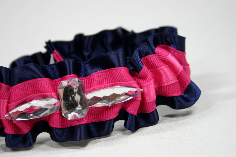 blue-hot-pink-custom-wedding-garter-The-Garter-Girl