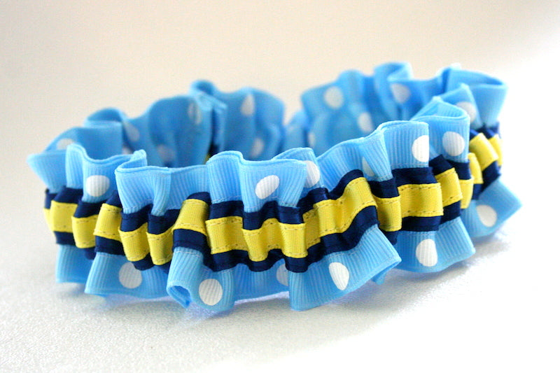 blue-polka-dot-yellow-custom-wedding-garter-The-Garter-Girl