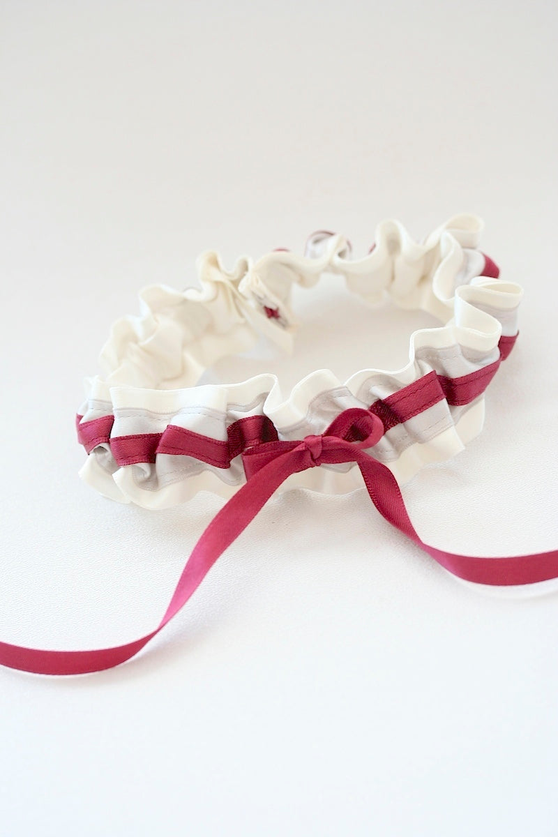 burgundy-gray-wedding-garter-The-Garter-Girl