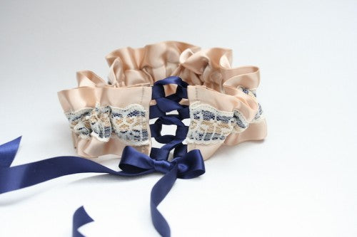 champagne-navy-lace-wedding-garter-The-Garter-Girl2