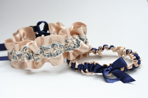 champagne-navy-lace-wedding-garter-The-Garter-Girl6