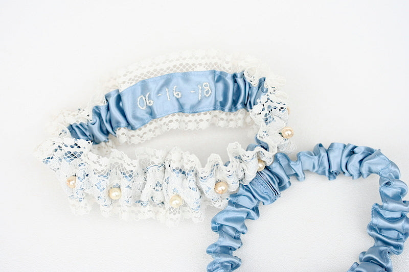 custom-blue-wedding-garter-The-Garter-Girl