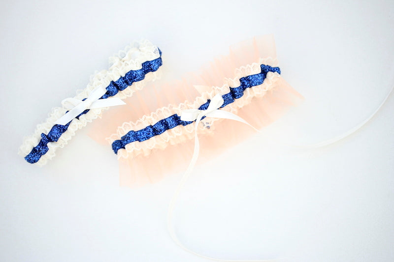 custom-wedding-garter-navy-glitter-peach-tulle-the-garter-girl-4